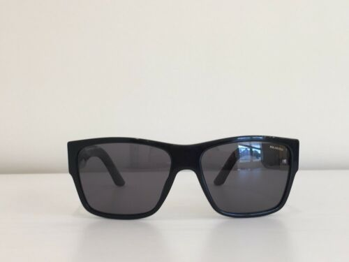 7fbb1e2ed62 ... Versace MOD 4296 GB1 81 Rectangle Black Gray Gold Polarized Sunglasses  59-16-