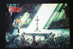 🌈 ZELDA A Link to the Past 1992 Original Old Super Nintendo Retro Game Poster