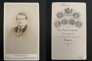 Reutlinger-Paris-Charles-Thiron-Vintage-carte-de-visite-CDV-Charles-Joseph