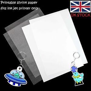 image relating to Printable Shrink Film titled Info regarding British isles 5-10pack PRINTABLE Shrink Motion picture Oven Warm Shrink Artwork Paper for Children Attractiveness Do-it-yourself