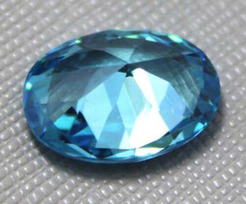 8X10mm 3.52ct AAAAA Mar Azul Zafiro Diamantes Corte Facetado Oval Vvs Gemas Sueltas
