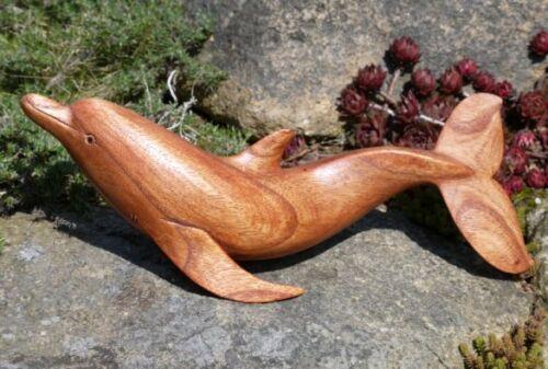 Schöner großer DELFIN Holz Tier Flipper Fisch Delfin11