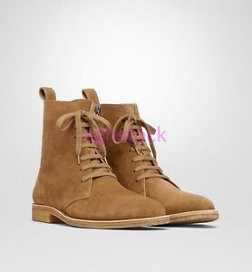 Details about Vintage Mens High Tops Suede Leather Lace up Chelsea Boot Ankle Dress Shoes xiem