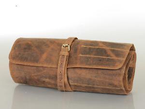 good out x hot sales timeless design Details zu Leder Werkzeugrolle Werkzeugtasche Tool Bag 14 Fächer braun  1690-25