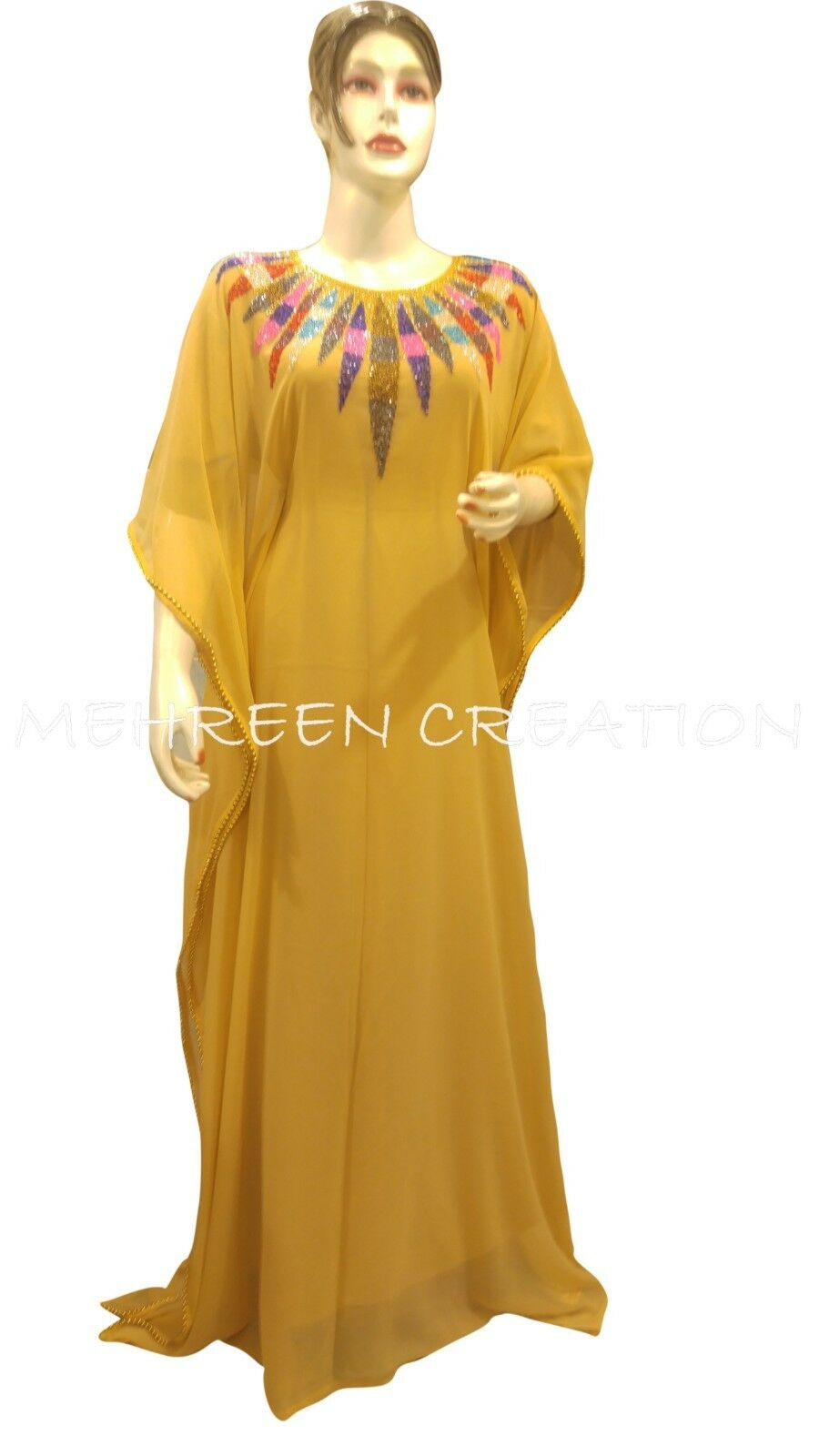 DUBAI FARASHA KAFTAN JALABIYA BEAUTIFUL PARTY WEAR GOWN LATEST PARTY WEAR DRESS