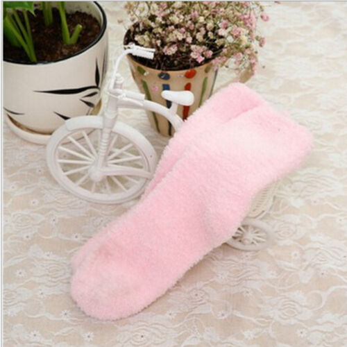 1Pair Girls Bed Socks Fluffy Warm Winter Kids Gift Soft Floor Home Accessories^Y