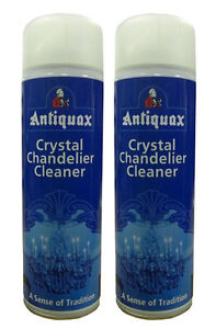2 x antiquax glass and crystal chandelier cleaning spray 500ml spray image is loading 2 x antiquax glass and crystal chandelier cleaning aloadofball Image collections