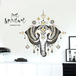 Holy-Elephant-Jewels-Room-Home-Decor-Removable-Wall-Stickers-Decal-Decoration