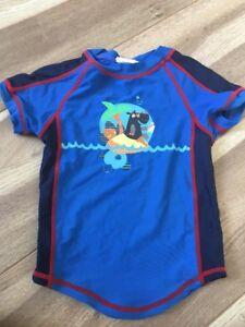 Badeshirt-Jungs-UV-Shirt-Gr-86-92-Schwimmkleidung