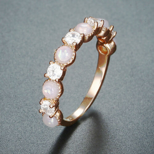 Opal Ring Women Jewelry Wedding Engagement Prom Size 6-10