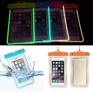 Details about Luminous Waterproof Underwater Float Pouch Bag Dry Case For  iPhone Android phone