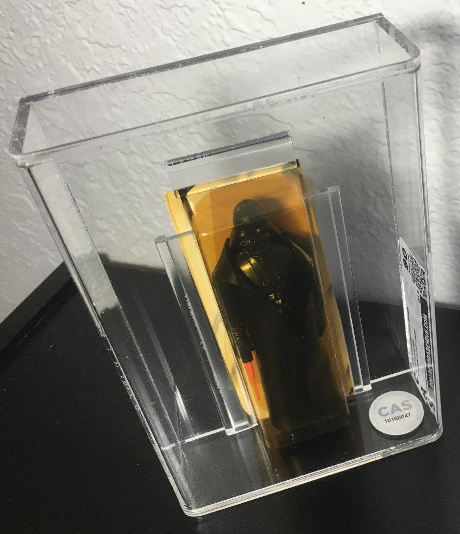 Star Wars Vintage Darth Vader CUT CARD Action Figure AFA GRADED CAS 90 w COA