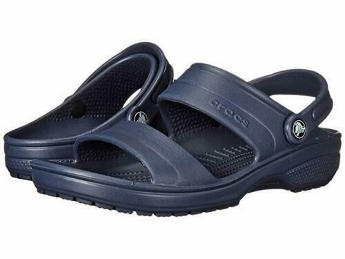 NEW Crocs Classic Clog Navy Blue Relaxed Fit Size 13 Sandals Pool Summer Shoes