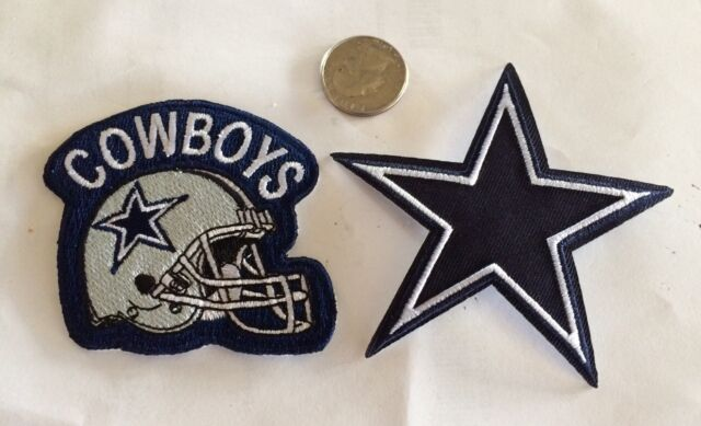 "(2) DALLAS  COWBOYS,  Vintage/ Retro NFL Patch-Iron On 3"" x 3"" (Lot Of 2) Nice!"