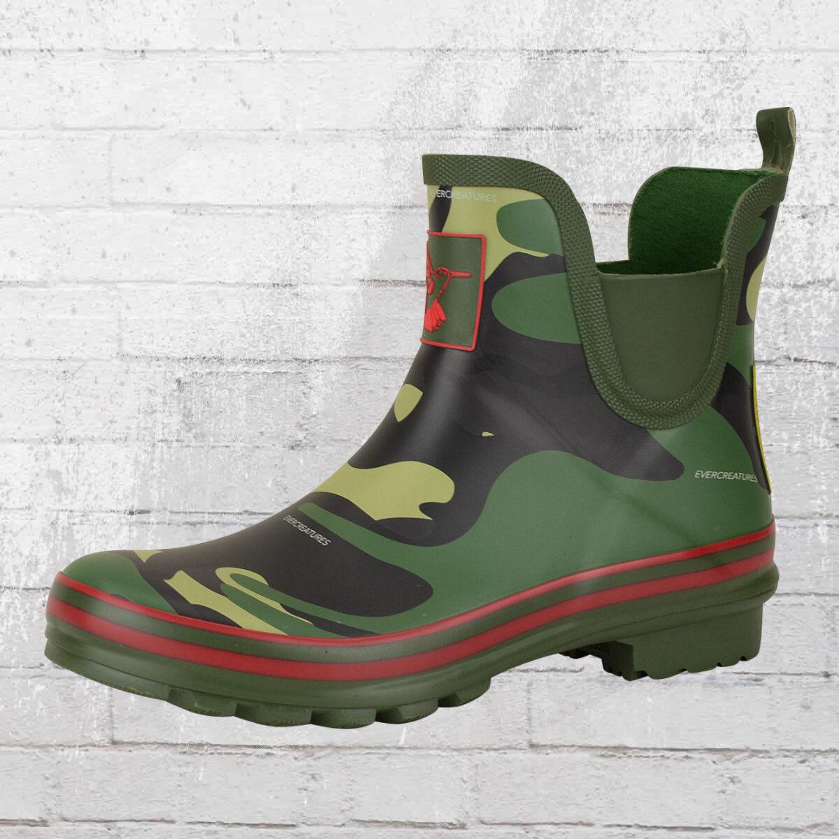 Evercreatures breve señora botas de goma camo Meadow camo mujeres botas de goma
