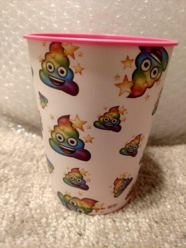 Home Party Supplies Kids Poop  Emoji Reusable Plastic Cups Set Of 10 Cups.16oz