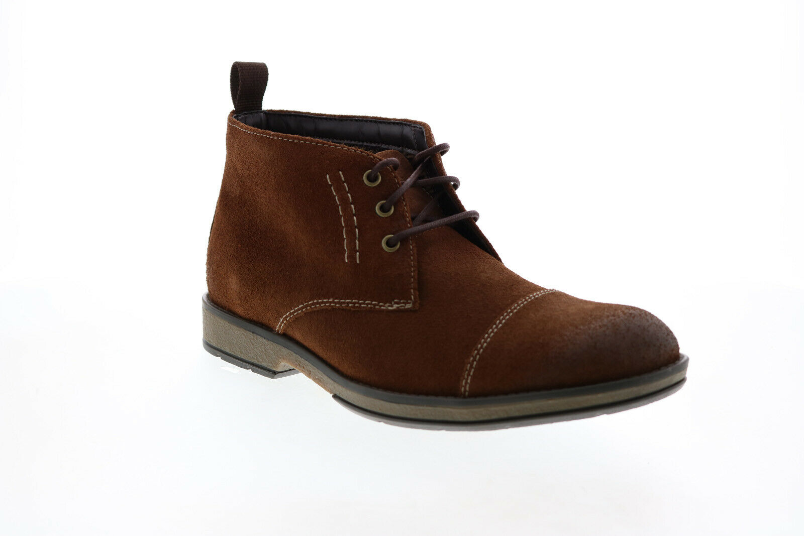 Clarks Hinman Mid 26127747 Mens Brown Suede Lace Up Chukkas Boots