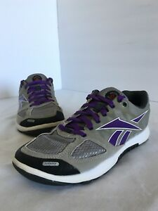 Reebok Crossfit Nano 2.0 Shoes Womens Size 5 Gray Purple Training ... 053256fe8