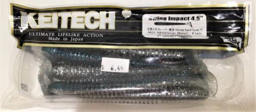 """Keitech Swing IMPACT 4.5/"""" 6 pans per pack Sélectionnez Couleur"""