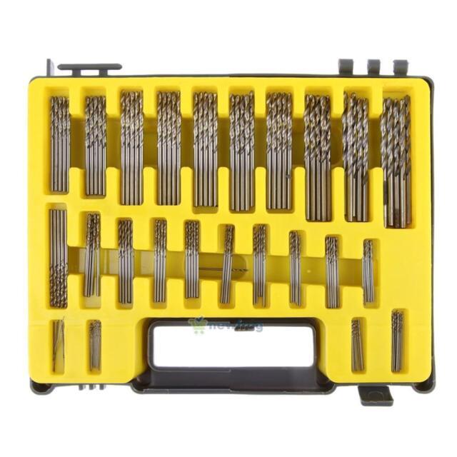 150PCS 0.4mm-3.2mm Twist Drill Bit Kit Set HSS Micro Number Fractional Precision