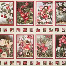 Blossom Flower Fairies 100% Cotton Quilting Fabric Panel Wall Blossom DC3935