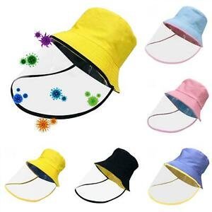 Full Face Covering Shield Anti Saliva Visor Baseball Cap Hat Protective Cover