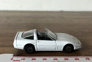 VINTAGE-BIANCO-maitso-Corvette-ZR-1-Diecast-amp-PLASTIC-TOY-CAR-MADE-IN-CHINA