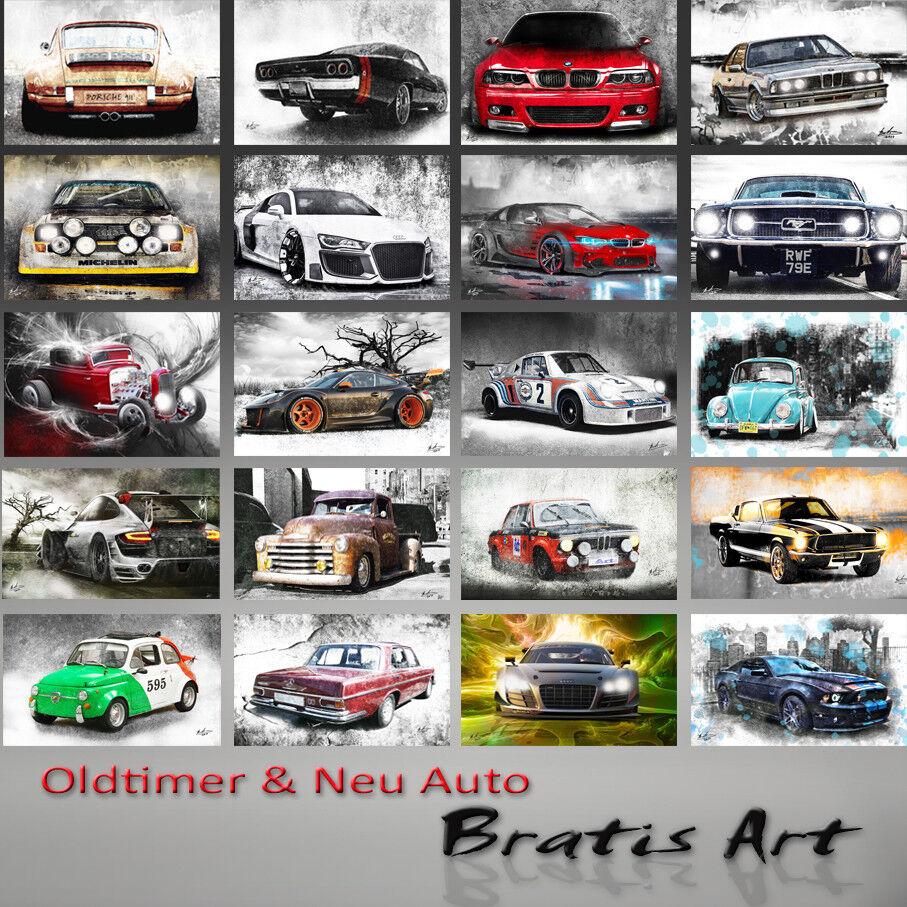 Paysage Abstrait Arbres Bund Abstrait Paysage Images toile la fresque art pression XXL 683 A 1356fc