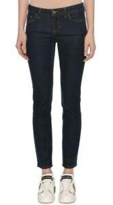 "BNWOT DEF Jeans ""Girly"" ultra-low rise dark blue straight denim jeans sz26"
