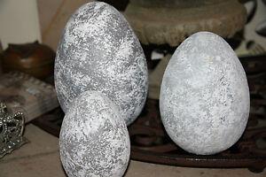 osterei pappmache ei grau stehend dekoration ostern eier ebay. Black Bedroom Furniture Sets. Home Design Ideas