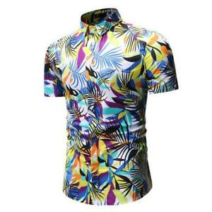 T-shirt-slim-fit-casual-tops-floral-men-039-s-short-sleeve-luxury-formal-stylish