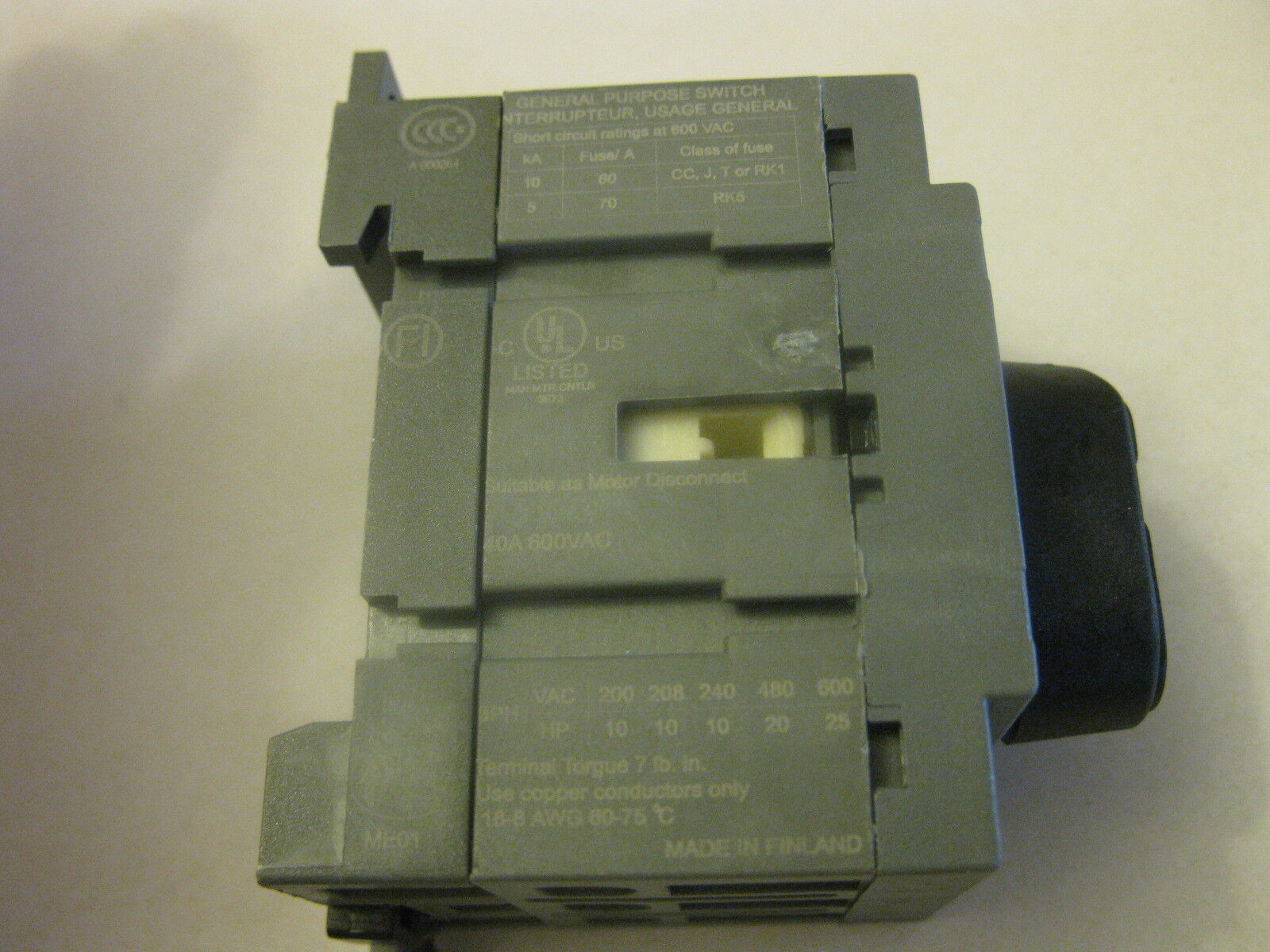 OETL-NF1200 - ABB - Disconnect Switch | Galco Industrial