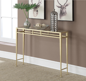 Remarkable Details About Elegant Gold Glass Top Accent Console Entryway Sofa Table Home Decor Furniture Ibusinesslaw Wood Chair Design Ideas Ibusinesslaworg