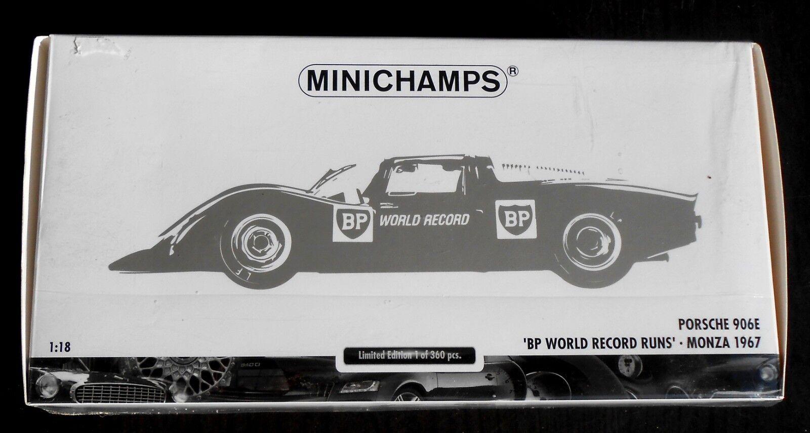 Minichamps 100 676100 Porsche 906E - BP World Record Run - Monza 1967, 1 18, mb