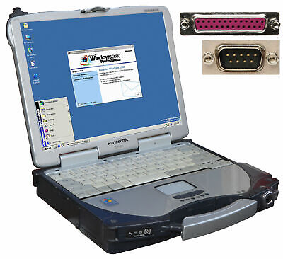 2019 Moda Panasonic Cf-28 Notebook Per Windows 98 Win 2000 Con Rs-232 Seriel Lpt Lan Isdn-