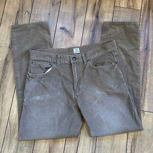 J-Crew-Mens-484-Slim-Fit-Pants-in-Khaki-Brown-Corduroy-33x30-Cords
