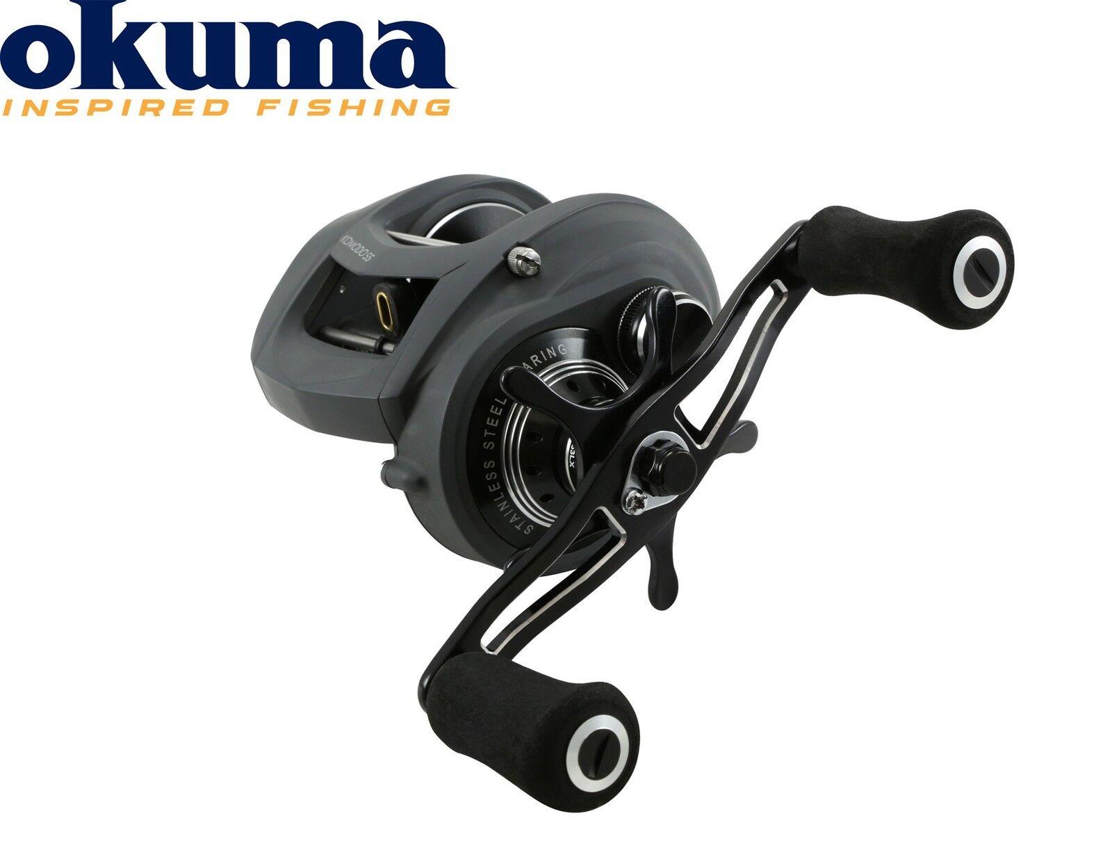 Okuma Komodo LP KDS-463LX - Niedrig Profile Multirolle, Baitcastrolle für Hecht