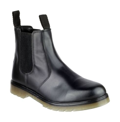 AMBLERS COLCHESTER BLACK CLASSIC DEALER BOOTS IN SIZE UK6 TO UK15