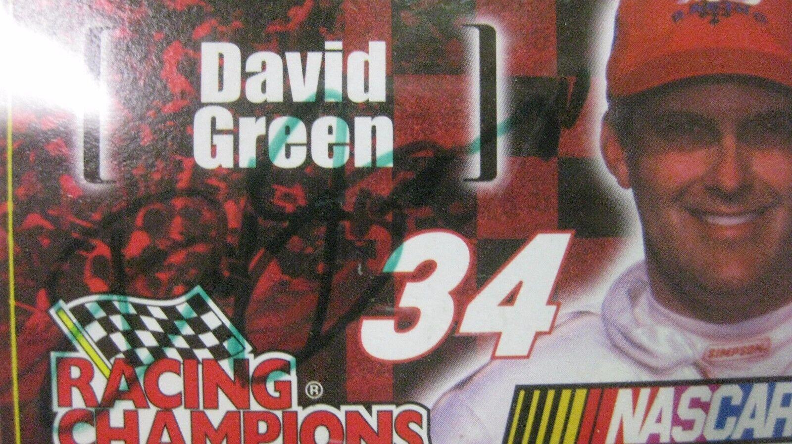 Raro Nascar Persecución Persecución Persecución The Race David green Firmado Chevy 1 64 de Metal Nuevo 9652c0