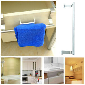 Details about New 23cm Over Kitchen Cabinet Door Hand Towel Holder Hanger  Tea Towel Bathroom
