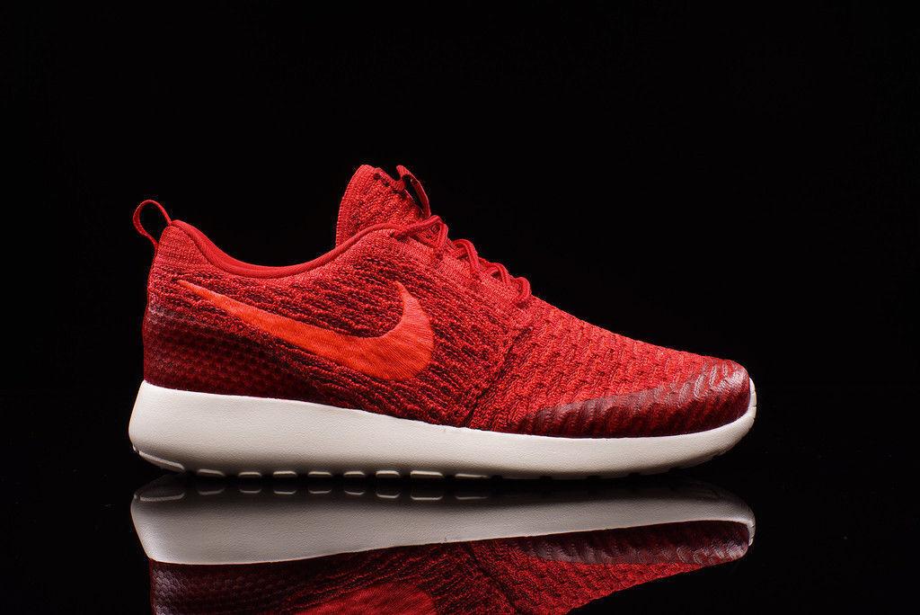 AUTHENTIC NIKE Roshe Run One Flyknit Gym Red Crimson White 704927 601 Women size