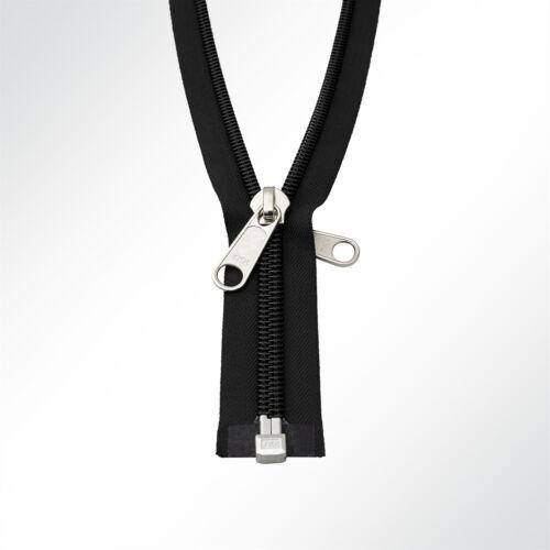 YKK® 10C Reißverschluss Zeltreisser Spiralreißverschluss teilbar 78cm schwarz