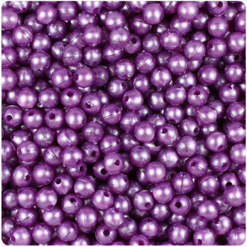 BeadTin Faux Pearl 6mm Round Plastic Craft Beads 500pcs Color choice