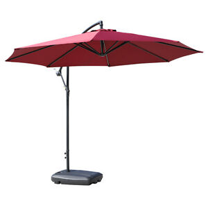 Outsunny Parasol Stand Portable Umbrella Base Water Sand Fillable Black