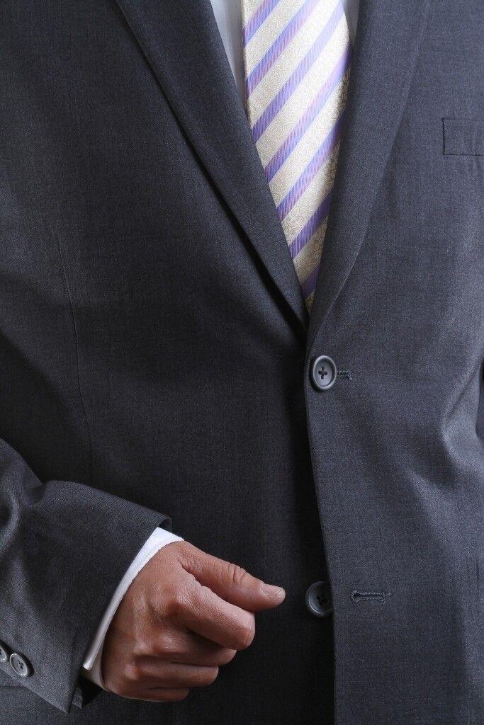 Uomo 2 BUTTON Gris EXTRA FINE SLIM FIT Gris BUTTON DRESS SUIT 44S, PL-60512H-GRE 4d2153