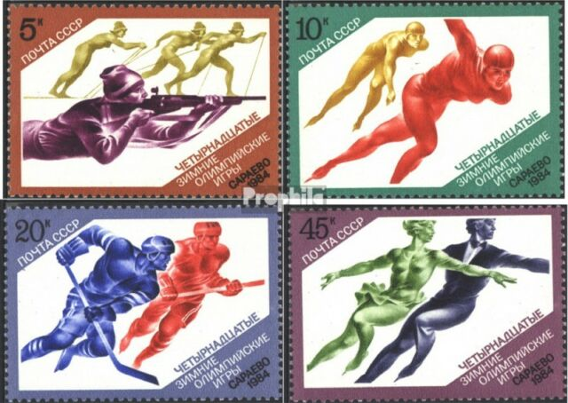 Soviet-Union 5352-5355 (complete issue) used 1984 olympic. Wint