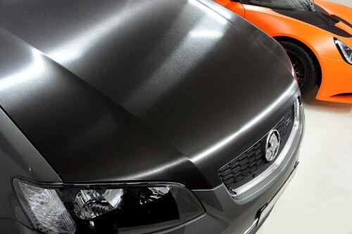 25x152cm BLACK METAL BROSSE Aluminium Vinyle Véhicule Wrap Teinte Extérieur Intérieur
