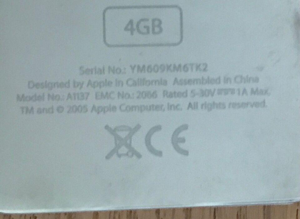 iPod, Nano MA107DK, 4 GB