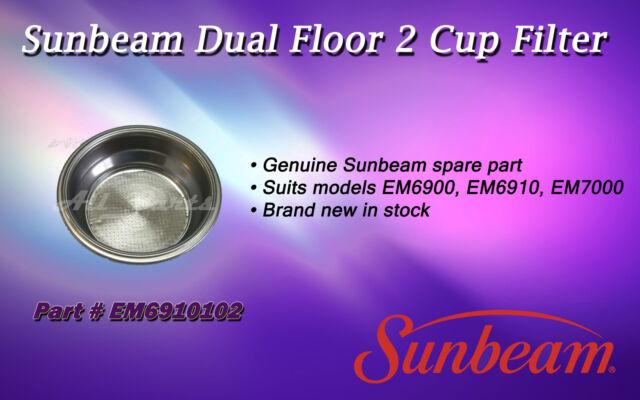 SUNBEAM EM6900 EM6910 EM7000 DUAL FLOOR 2 CUP FILTER EM6910102