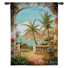 Terrace View Ii Tropical Palm Art Tapestry Wall Hanging 39x53 For Sale Online Ebay